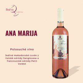 Představujeme vám naši novinku, polosuché růžové víno Ana Marija od Bovinu